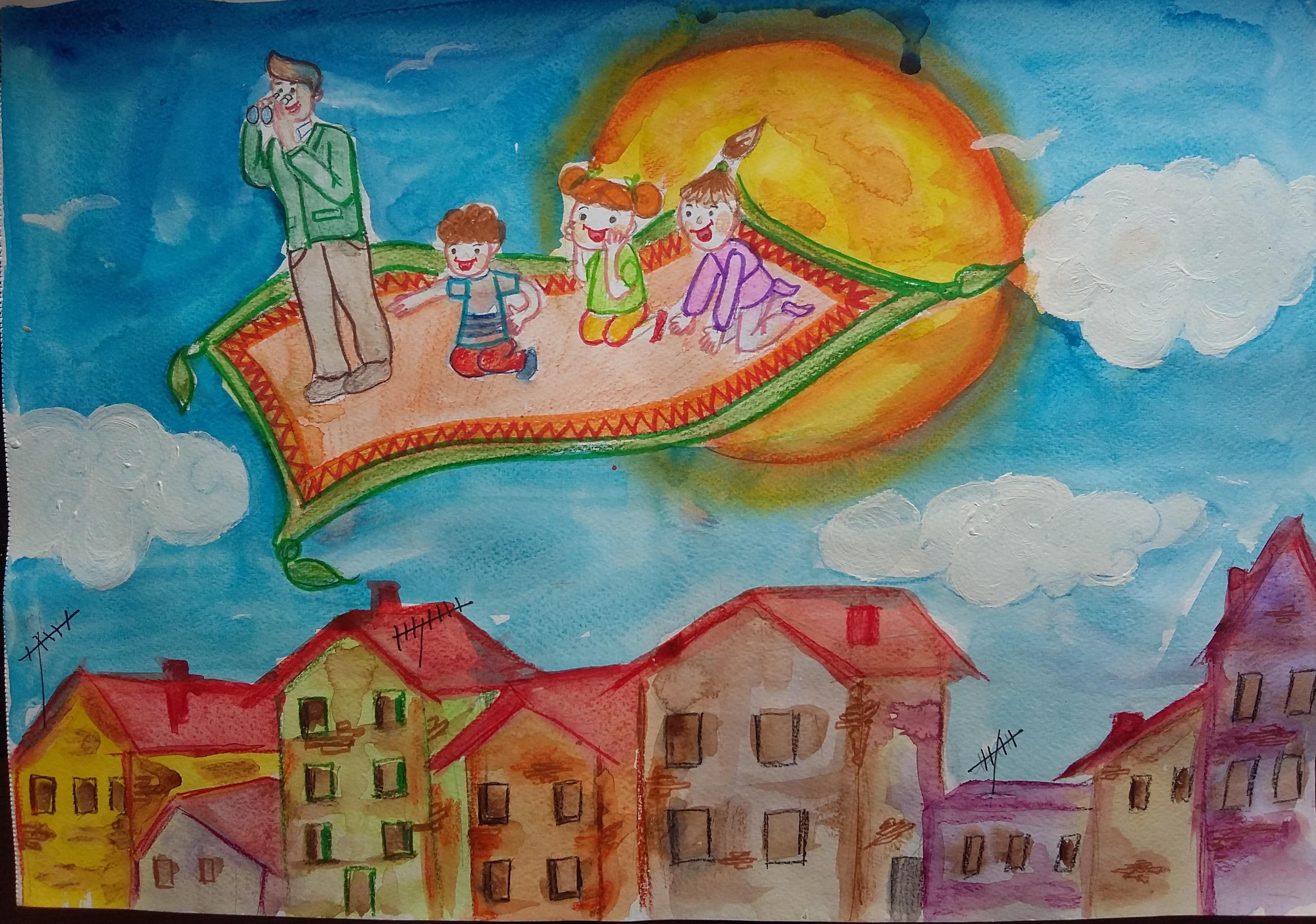 """""""Вълшебно училище"""" - Мухамед Ибрам Хасан,7 клас, ОУ """"Никола Й. Вапцаров"""", гр. Хасково, ателие """"Мечтатели"""", ръководител: Нина Марева"""